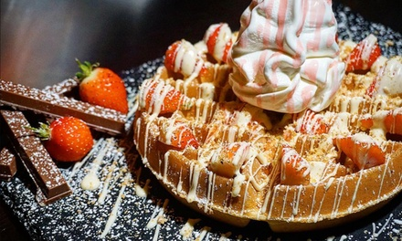 Two or Four Waffles with Milkshakes at Shake Down