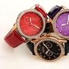Women's August Steiner Quartz Date Genuine Leather Strap Watch
