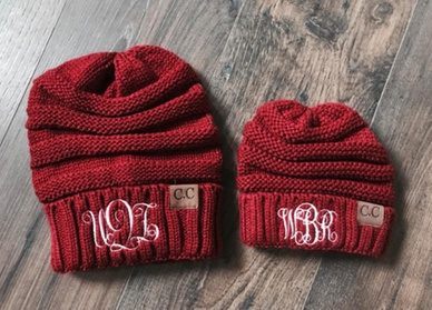 One, Two, Three, Five, or 10 Personalized Embroidered Beanies for Adults or Kids from Qualtry(Up to 80% Off)