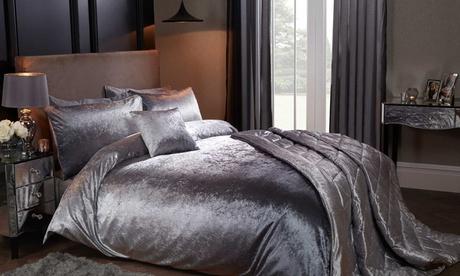 Juego de dormitorio aterciopelado con opción a cojín, 1 o 2 fundas de almohada