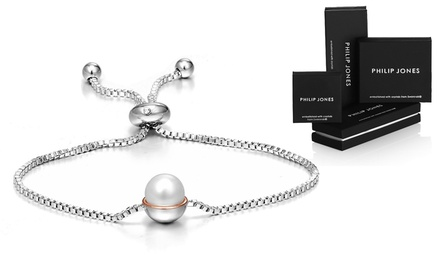 One or Two Philip Jones Pearl Friendship Bracelets with Crystals from Swarovski®