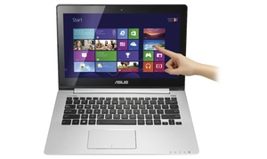 "Asus 13.3"" Touchscreen Laptop With Intel Core I5-3317u Processor, 4gb Ram, And 500gb Hard Drive (refurbished)"