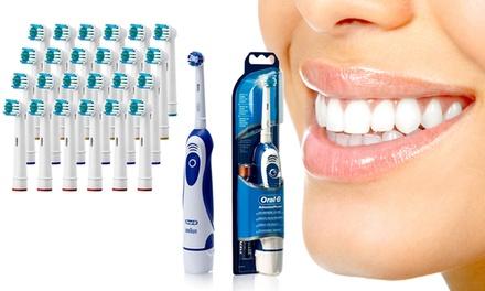 Braun borstelset en tot 24 OralB compatibele vervangende opzetborstels