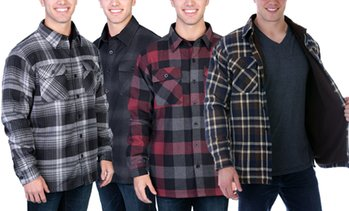 Maxxsel Men's Button Down Flannel Shirt with Fleece Lining (S-3XL)