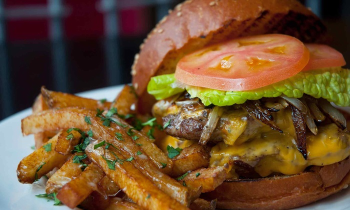 Burger Fresh - Independence: Burger Meal with Fries and Drinks for Two or Four at Burger Fresh (Up to 53% Off)