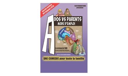 1 place pour « Ados Vs Parents, mode d'emploi », date au choix, à 10 € à La Comédie de Nice