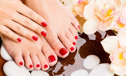 image for <strong>Spa</strong> Manicure or Pedicure at The Candy Vault Nail <strong>Spa</strong> Shoes (Up to 60% Off)