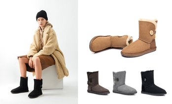 Mid Button UGG Water Resistant Boots