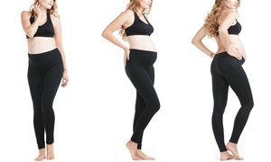 Women's Basic Black Maternity Leggings