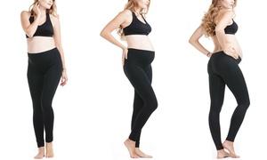 Women's Basic Black Maternity Leggings