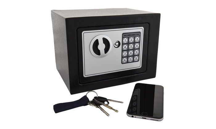 Home Safebox With Keypad And Key Lock Groupon Goods