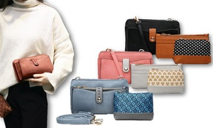 Frangelina 3-in-1 Bag, Wallet, and Pouch Set by Mia K. Farrow