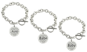Toggle Bracelet in Stainless Steel by Pink Box