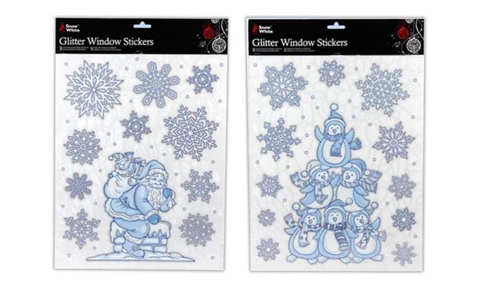 Adesivi natalizi per finestre groupon goods - Adesivi natalizi per finestre ...