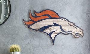 NFL 23.5'' x 23.5'' Distressed Team Logo Sign
