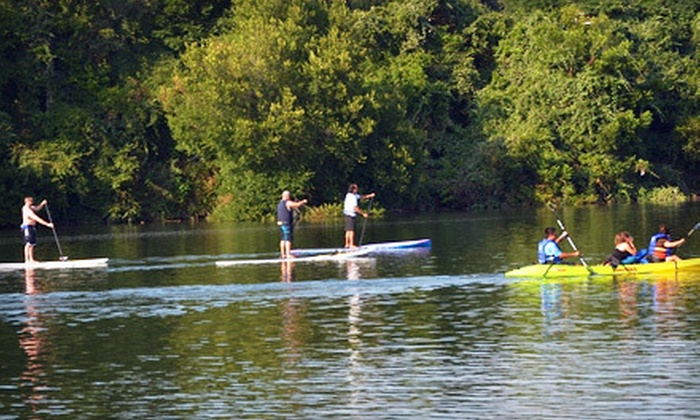Rowing Dock - Lady Bird Lake: Two or Four Two-Hour Rentals of a Standup Paddleboard, Double Kayak, or Canoe from Rowing Dock (Up to 72% Off)