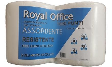 fc61c314cb47 1 o 2 doppi rotoli da 800 strappi di carta assorbente in pura ovatta di  cellulosa