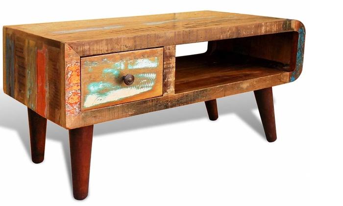 vintage couchtisch used look groupon goods. Black Bedroom Furniture Sets. Home Design Ideas