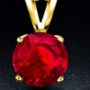 1.00 CTW Lab-Created Ruby Necklace in 18K Gold Plating