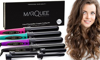 Marquee Beauty 5-in-1 Ceramic Clipless Hair Curling Kit (6-Piece)