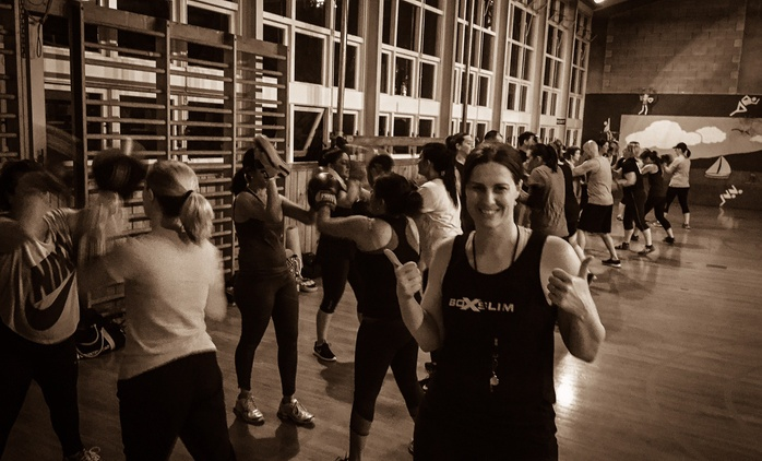 One-Month Class Pass with Gear for One ($19) or Two People ($38) at BoxSlim, Three Locations (Up to $176 Value)