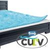 "Simmons Curv 1.5"" Reversible Gel Memory-Foam Mattress Topper"