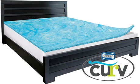 "Simmons Curv 1.5"" Reversible Gel Memory-Foam Mattress Topper da8d2216-1be1-11e8-a5d2-5254801ee647"