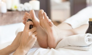 Beauty with Clare: Hot Stone Hand Treatment with Manicure, Foot Treatment with Pedicure, or Both at Beauty with Clare