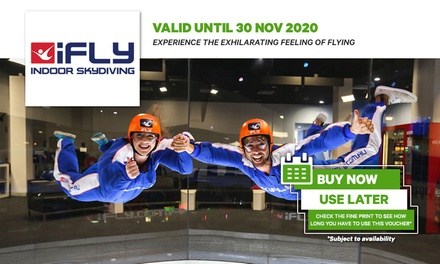 iFLY Indoor Skydiving Package from $64 on the Gold Coast or from $74 in Sydney