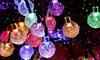 Guirlandes lumineuses solaires de 50 ou 100 LED