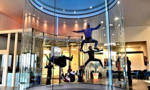 Weembi Indoor Skydiving: Baptême en simulateur de chute libre avec 2 vols et vidéo pour 1 personne à 59 € avec Weembi Indoor Skydiving