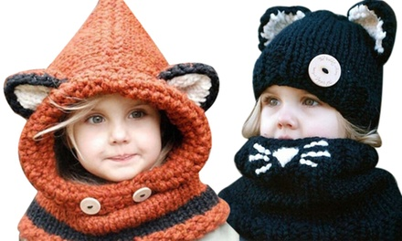 Kids' Winter Warm Knitted Hat and Scarf