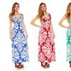 Damask Maxi Dress in Plus Sizes