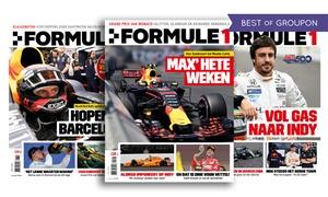 Formule1 Magazine:  8 of 22 nummers Formule1 Magazine (naar keuze met 3 specials), je abonnement stopt automatisch