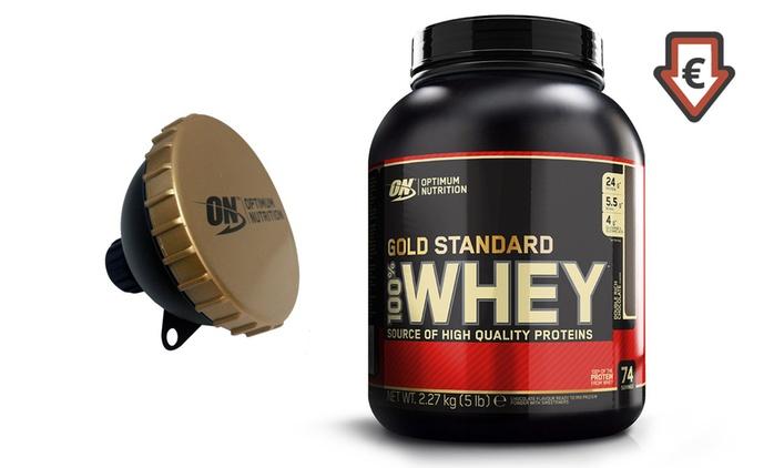 2,5 Kg di proteine Optimum Nutrition Whey Gold Standard con shaker a 23€ al kg (40% di sconto)