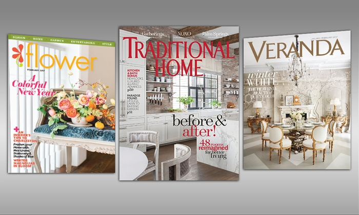 Decorating Magazines Veranda Flower Or Traditional Home