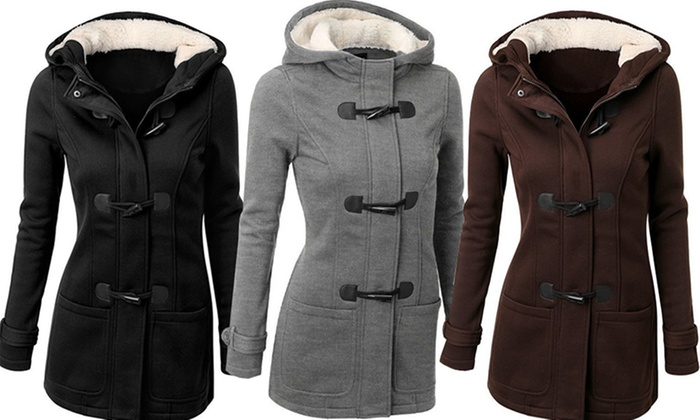 Idc Marketing: Hooded Coat with Toggle Buttons: One ($29) or Two ($49)