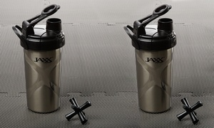 Jaxx Stainless Steel Shaker Cup (2-Pack)