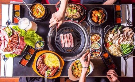 BBQ Set for 4 ($119), or for 2 Ppl: Mixed Grill ($59) or Pork Belly ($79) at CNK Korean Restaurant (Up to $159.40 Value)