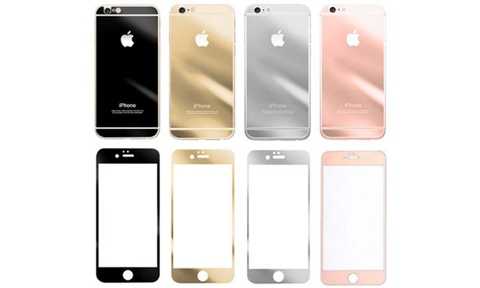 Groupon Goods Global GmbH: Protector de doble cara de vidrio templado para iPhone 5/5S/SE, 6+/6S+ desde 3,99 € (hasta 80% de descuento)