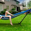 Sorbus Double Hammock with Space-Saving Steel Stand