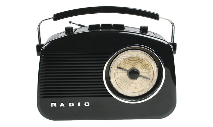 am fm radio im retro look groupon. Black Bedroom Furniture Sets. Home Design Ideas