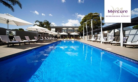 Gerringong: 1-, 2- or 3-Night Coastal Break for 2 with Wine and Late Check-Out at 4* Mercure Resort Gerringong
