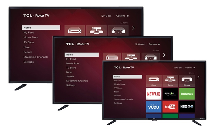 "TCL 32"", 40"", and 48"" LED Smart HDTVs with Roku Streaming (Manufacturer Refurbished)"