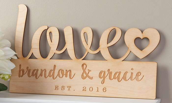 76 off on custom signs groupon goods - Custom Signs For Home Decor