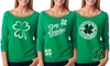 Women's St. Patrick's Day Off-Shoulder Top