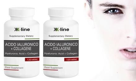 Hasta 720 de cápsulas de ácido hialurónico y colágeno
