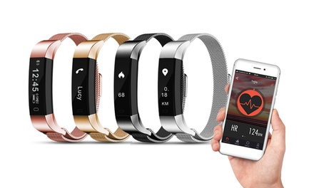 Fitnesstracker AQ115 met metalen band van Aquarius