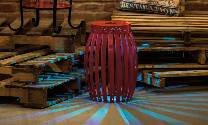 Solar Led Table Stool Groupon Goods