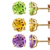 1.00 CTW Peridot, Amethyst, or Citrine Solitaire Earrings in 14K Gold